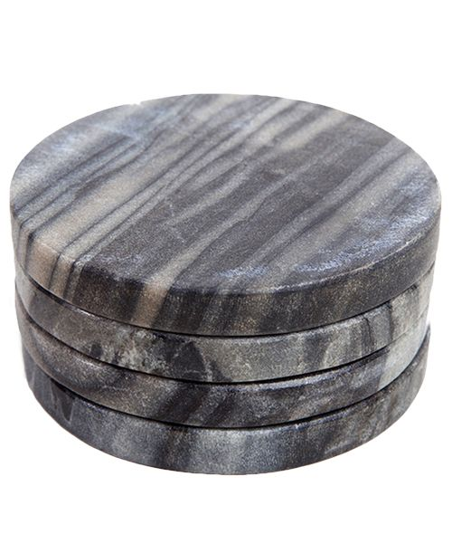 Marble Must-Have: Drink Coaster // gray marble coaster