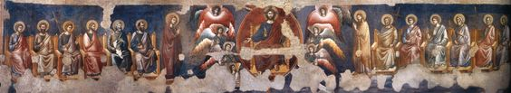 pietro cavallini last judgement, The church of Santa Cecilia in Trastevere in Rome, Italy
