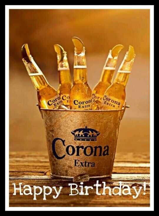 Happy Birthday Greeting Corona Beer Ok For Man Verjaardagskaart Verjaardagskaarten Verjaardagswensen