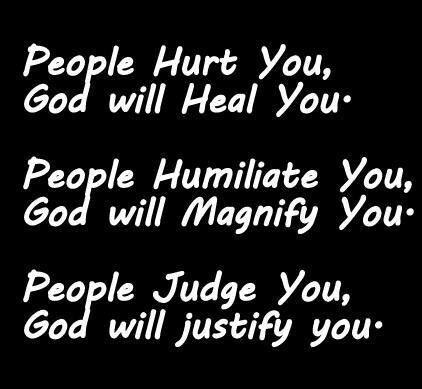 God vs people