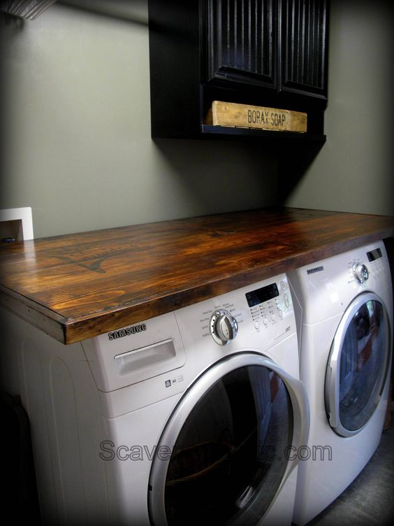 {how to} make your own laundry wood countertop
