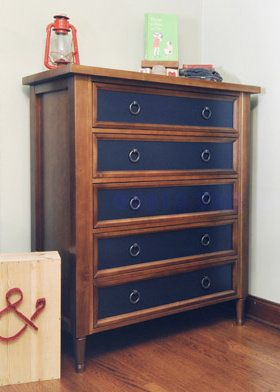 Loving this unique dresser for a baby boy nursery!