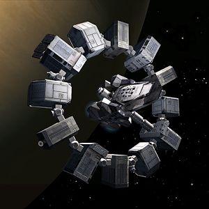 Spaceship Endurance from the Christopher Nolan movie Interstellar (2014)
