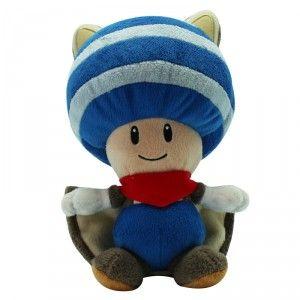 NINTENDO - Peluche Toad écureuil volant Bleu 20cm