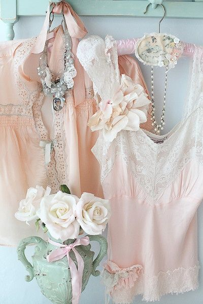 """So Soft & Serene are these Vintage Style Camisoles in Blush Pink #fashion #vignette"""