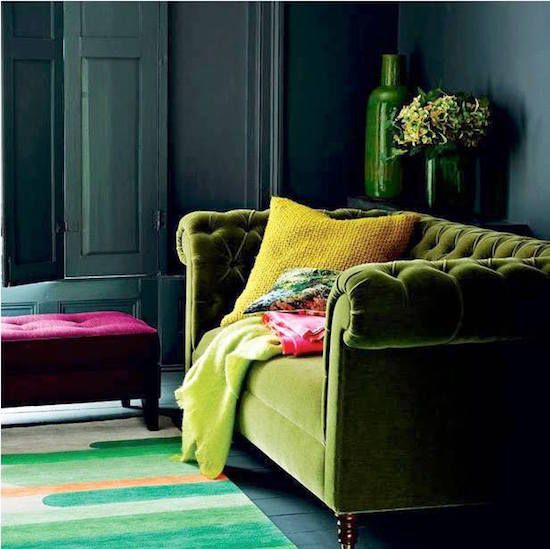 Olive green upholstery green and green living rooms for Olive green home decor