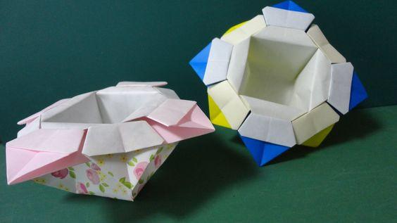 花の箱 折り紙 Flower Box Origami