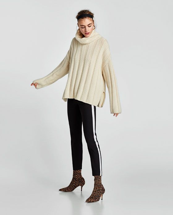 Pantalon Banda Lateral Zara Damen Hosen Und Weite Hosen