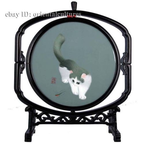 Original :Directly from Suzhou. Embroidery Size :20cm the diameter;frame measurement:39.5cmx29cm.