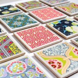 Super easy, super cute DIY tile coaster idea... the perfect present?