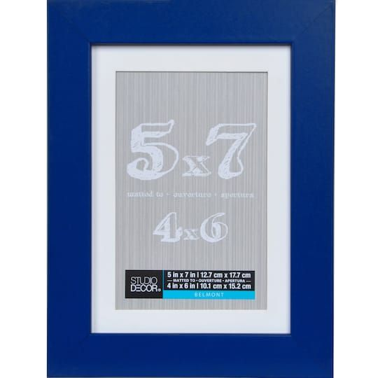 Blue Belmont Frame With Mat By Studio Decor Decor Frame Cute Frames