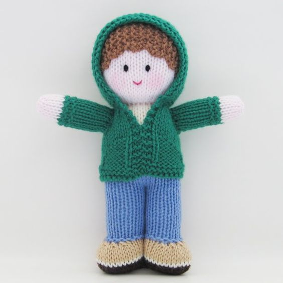 simple knittied doll pattern | free doll clothes patterns, knitted doll patterns, knitted doll