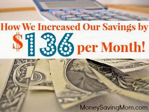 How We Increased Our Savings by $136 Per Month