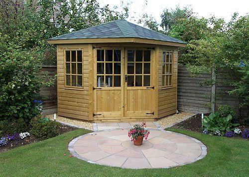 corner summerhouse 8x8 felt shingle roof free delivery ebay gazebo pinterest corner ebay and gardens - Corner Garden Sheds 8x8