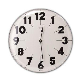 """Taylor Extra Large 18"""" Metal Clock"""