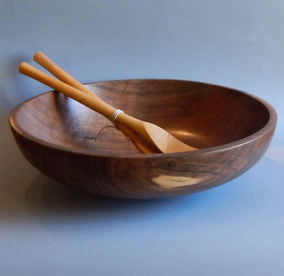 Walnut Salad Bowl with Servers by Dave Thompson.  Available at NWG.