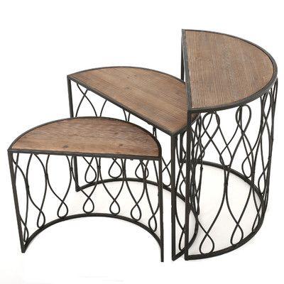 Home Loft Concepts 3 Piece Nesting Tables