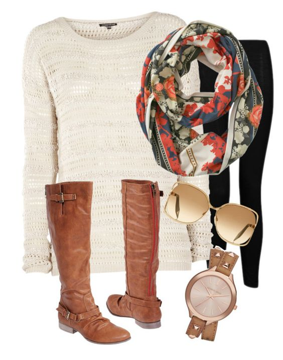 """""""Fall"""" by jescover ❤ liked on Polyvore featuring Influence, Warehouse, Adi Designs, Reverie, Victoria Beckham and Michael Kors"""