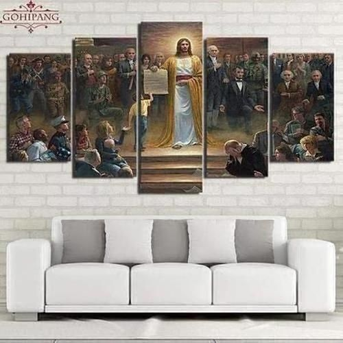 5 Piece Classic Painting Jesus Wall Art Canvas The Divine Bazaar Jesus Wall Art Canvas Wall Decor Canvas Art Wall Decor