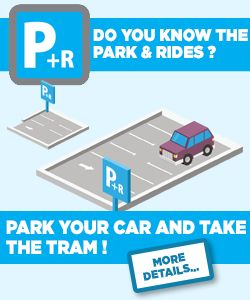 Park and Tram info in English
