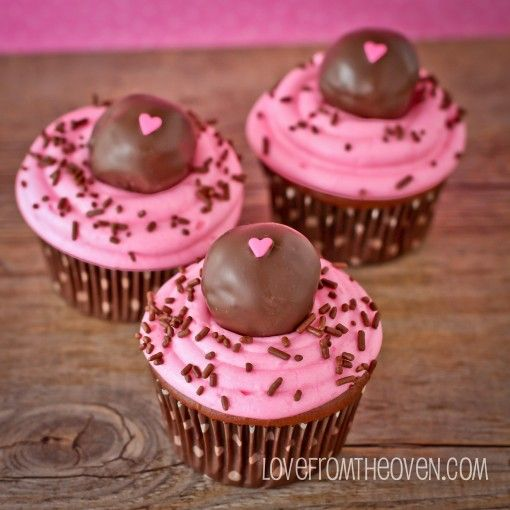 Devil's Food Cupcakes Stuffed With Pink Velvet Cake Pops