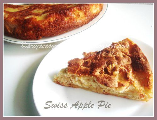 Swiss Apple Pie (1) From: Priya's Versatile Recipes, please visit
