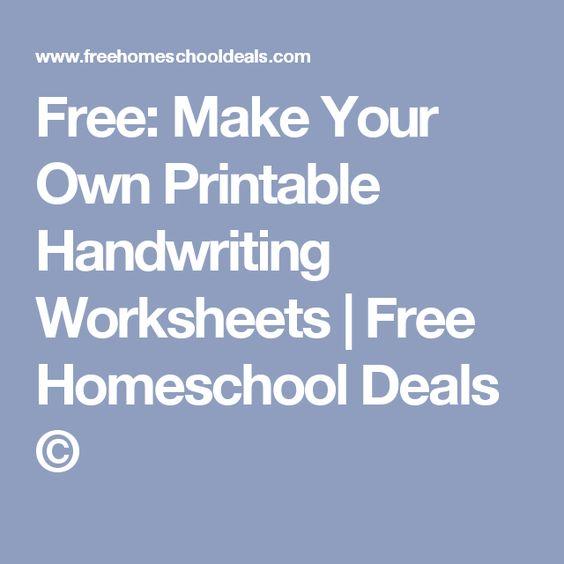 math worksheet : free make your own printable handwriting worksheets  handwriting  : Make Your Own Handwriting Worksheets For Kindergarten