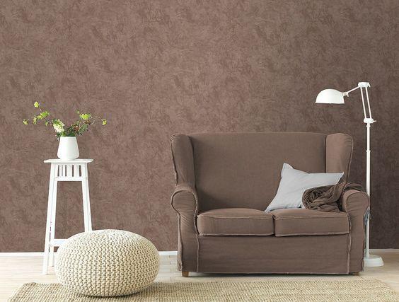 Vliestapete - Blumenranke braun-beige - 10 Meter Tapeten Pinterest - moderne tapeten für wohnzimmer