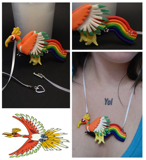 Ho oh Necklace by ShowtimeStudio on Etsy, $20.00