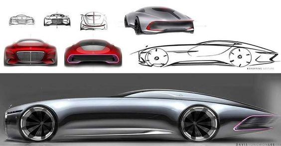 Mercedes-Maybach 6 Official sketches. Behance.com/cardesignpro via Instagram: https://www.instagram.com/p/BJS9ZZmgB1V/ - facebook.com/CarDesignPro