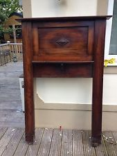 ANTIQUE FIRE SURROUND OVERMANTLE HEARTH FIREPLACE OAK VICTORIAN ARTS CRAFTS
