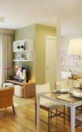 ideias para sala de jantar para apartamento pequeno 165x265
