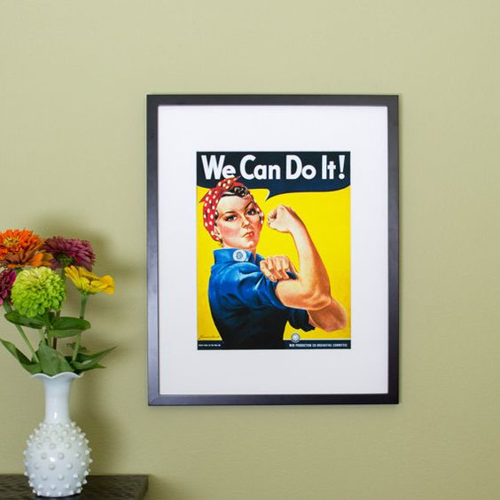 We Can Do It Rosie the Riveter Poster  by AuthenticHeirloomsCo