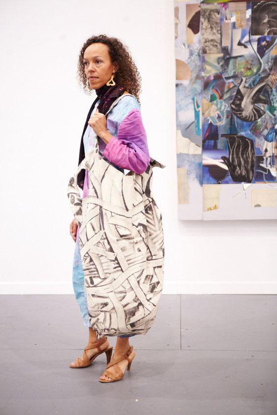Paula Wilson, at the Frieze Art Fair, 2014, in New York Magazine