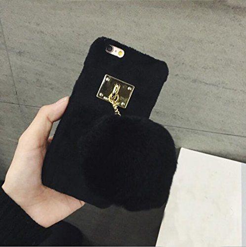 iPhone 6/6s Case - LU2000 Cute Bunny Fur Fluff Pom Pom Ke...