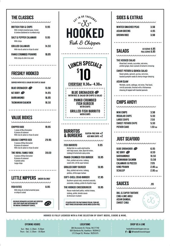 Hooked - Fish & Chipper - Fish and Chips Melbourne
