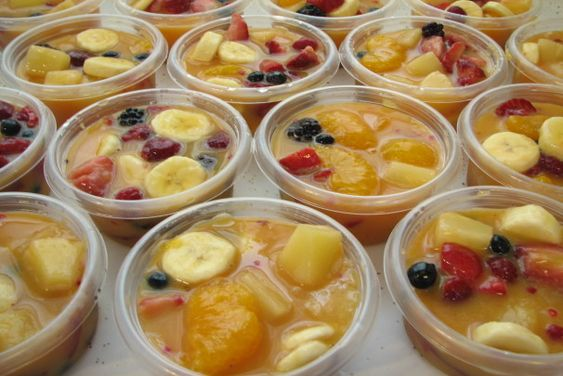 Frozen Fruit Cups.. I have never heard of this before! What a great, healthy snack, especially for kids! This would definitely replace store bought fruit cups, because I'm sure home made fruit cups are much healthier! Now just need to find the right size of a good sealing container!