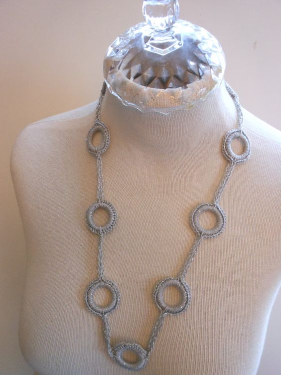 Crochet Rings Necklace/Chain by christine32000 on Etsy