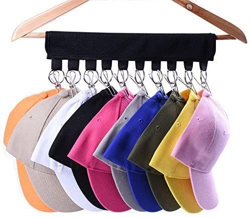 Amazon Com Lekusha Cap Organizer Hanger 10 Baseball Cap Holder Hat Organizer For Closet Change Your Cloth Hat Organization How To Clean Hats Cap Organizer