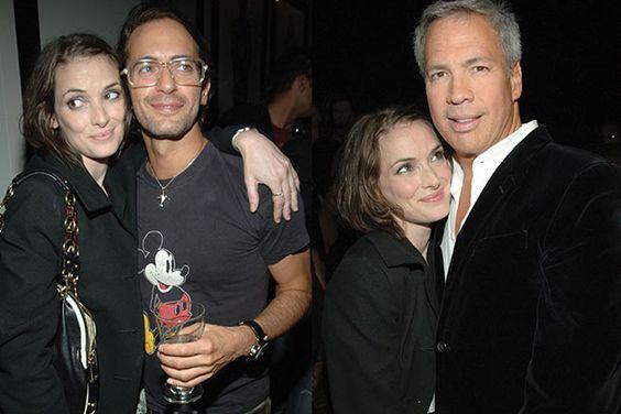 Winona Ryder con Marc y Robert