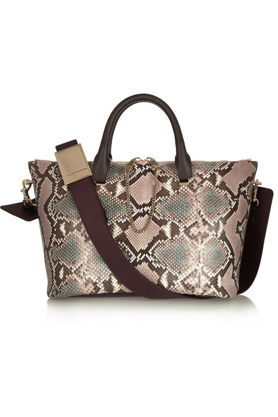 chloe purse prices - Chlo�� | Baylee medium python and leather tote | NET-A-PORTER.COM ...