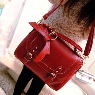 Miss Sweety - Bow-Accent Satchel http://www.yesstyle.com/en/miss-sweety-bow-accent-satchel-red-one-size/info.html/pid.1035283614