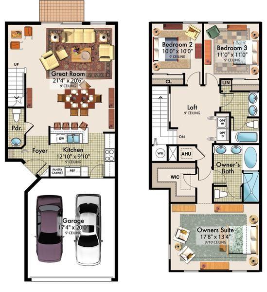 Planos de casas de 90m2 de 2 pisos buscar con google for Planos google