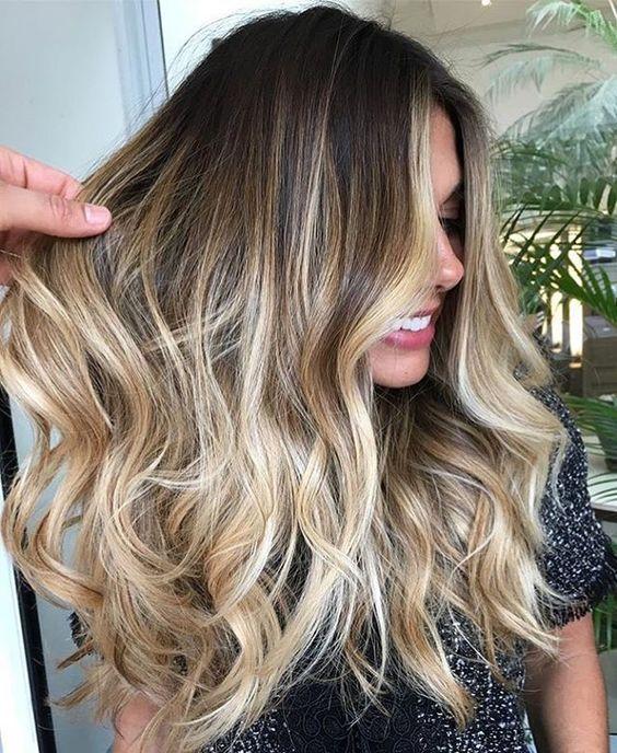 Vesunny Balayage Clip In Hair Extensions Thick Color 4 Dark Brown