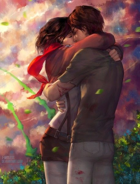 Eren And Mikasa Kiss Gif