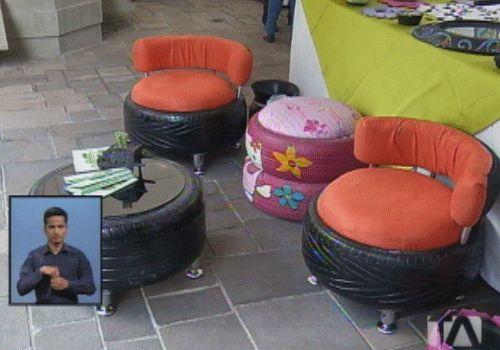 Realizan primera feria de reciclaje de neumáticos