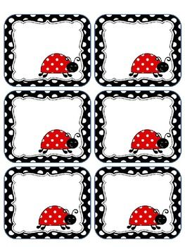 This packet includes editable ladybug labels. You may print these on cardstock…