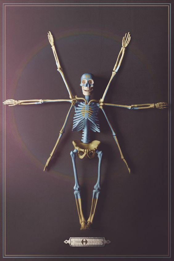 The Esqueletons . The Hexagon. / Third Eye. by EL  MONO  AUTISTA , via Behance