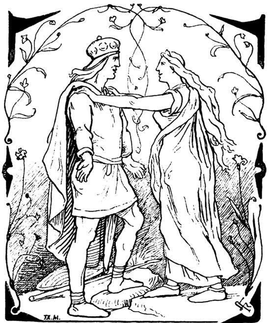 by Lorenz Frølich 1895  Magload in love