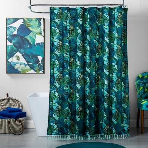 Jungle Print Shower Curtain Green Opalhouse Target Blue Shower Curtains Cool Shower Curtains Shower Curtain